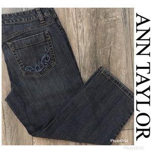 LIKE NEW ANN TAYLOR Slim Fit Capri Jeans Size 6P